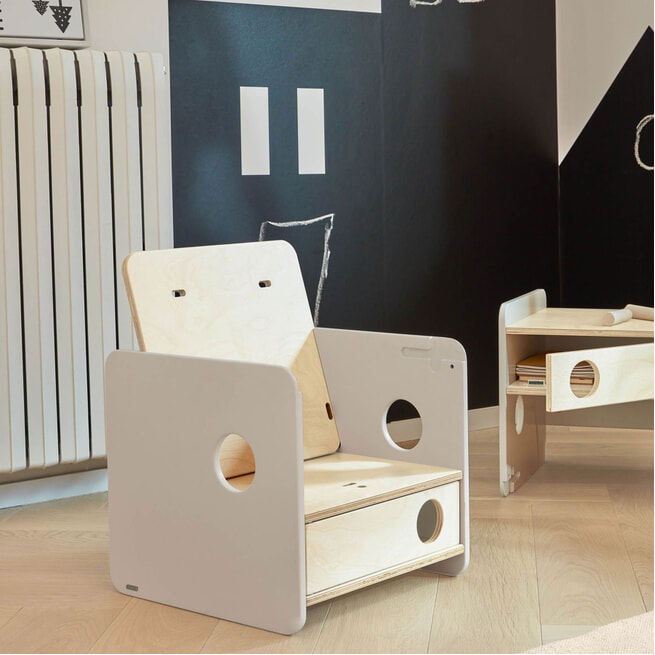 Kave Home Kinderstoel 'Nuun', 47cm, kleur Naturel