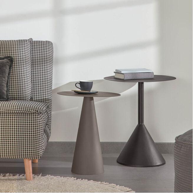 Kave Home Bijzettafel 'Yinan', 48cm, kleur Zwart