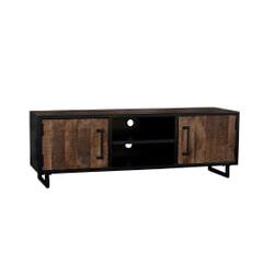 LivingFurn TV-meubel 'Colorado' Mangohout en staal, 150cm