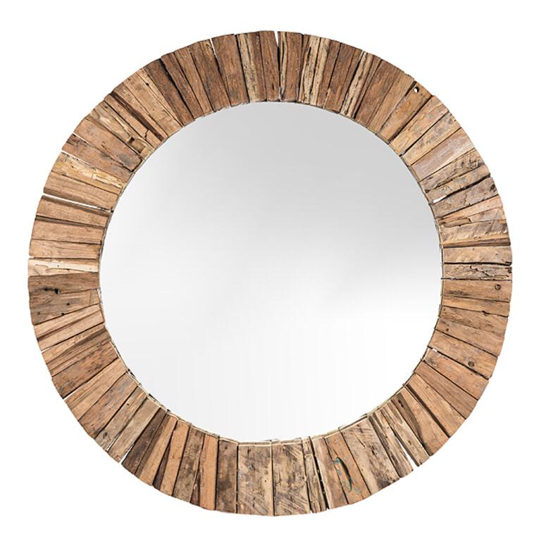 LivingFurn Ronde Spiegel 'Dakota' Riverwood, 40cm