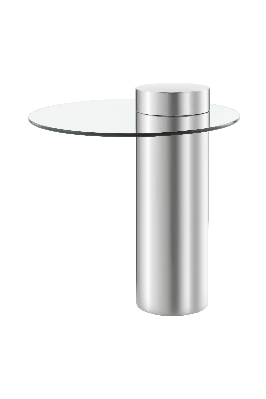 Kayoom Bijzettafel 'Ontario' 46cm, kleur zilver