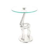 Kayoom Bijzettafel 'Giraf' kleur zilver, 40cm
