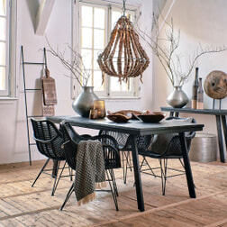 Light & Living Eettafel 'Ceira', mat zwart