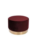 Kayoom Poef 'Nina' 55cm, kleur rood