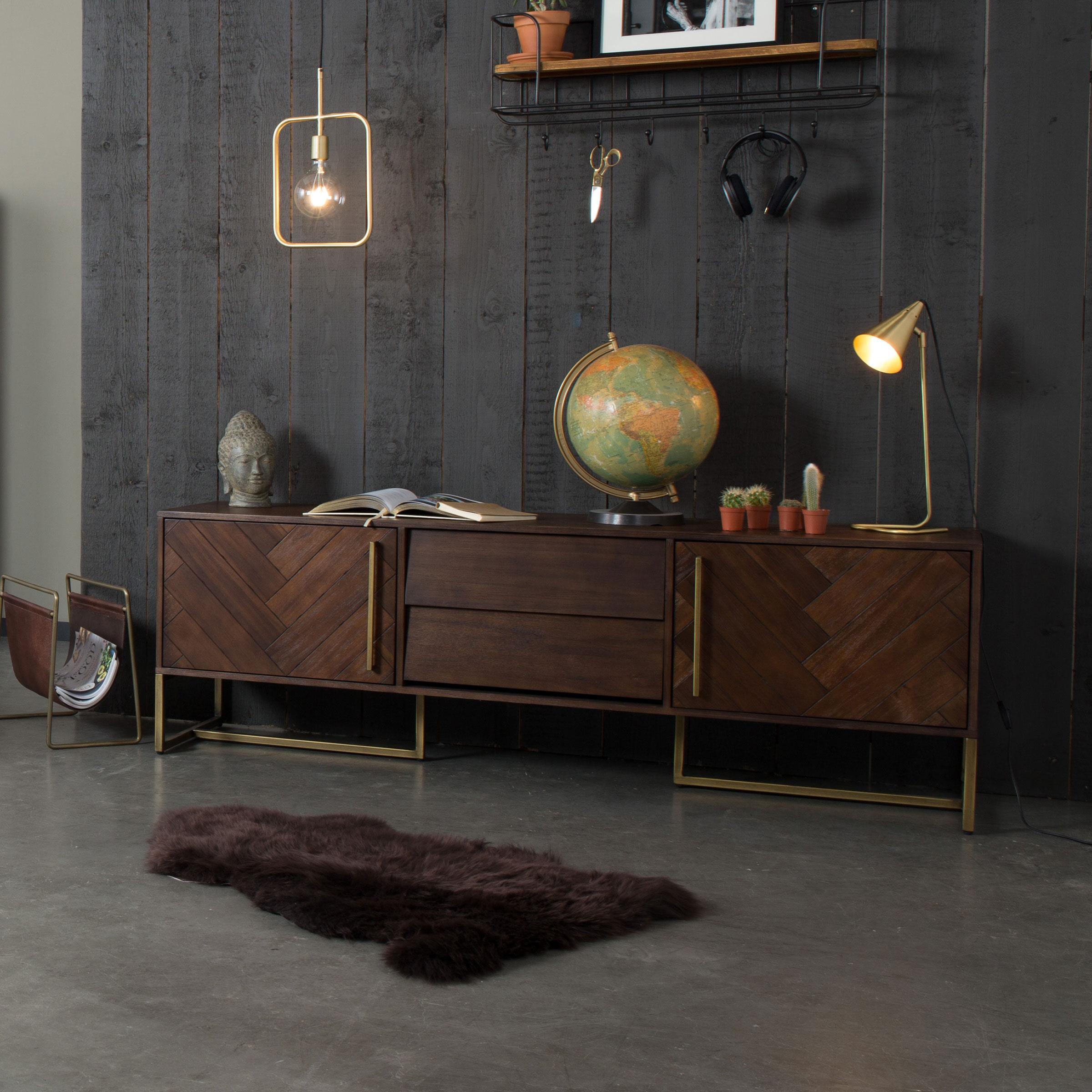 Dutchbone Tv-meubel 'Class' Antique Brass, 180 x 60cm