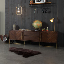 Dutchbone Tv-meubel 'Class' Antique Brass, 180 x 60cm