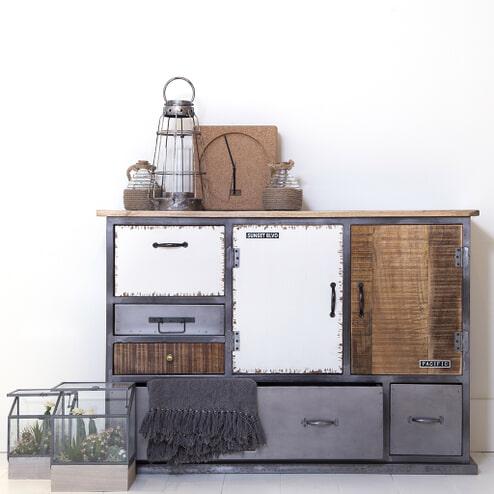 Commode 'Eleonora Vintage' met 2 deuren en 5 laden