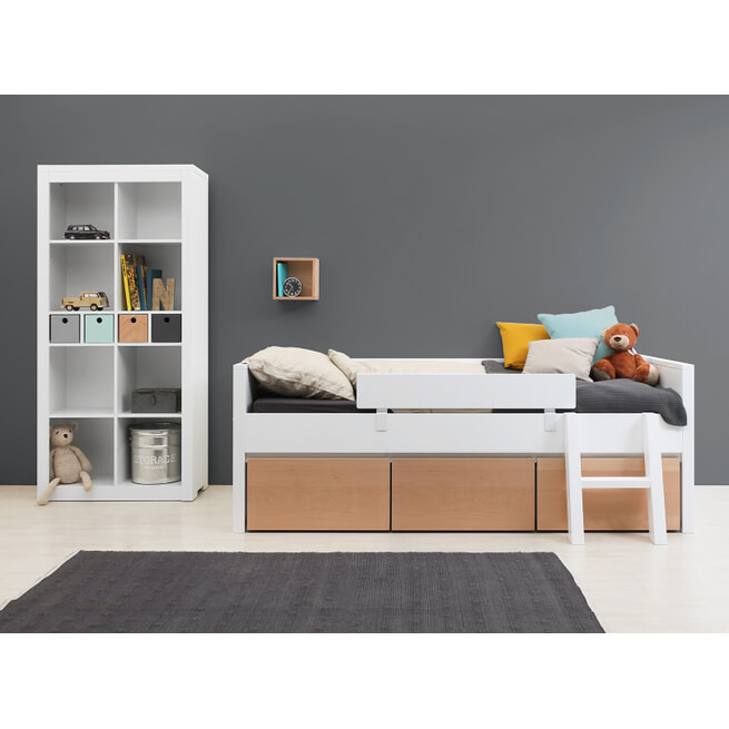 Bopita Schuine trap voor bed 'Yara' kleur wit