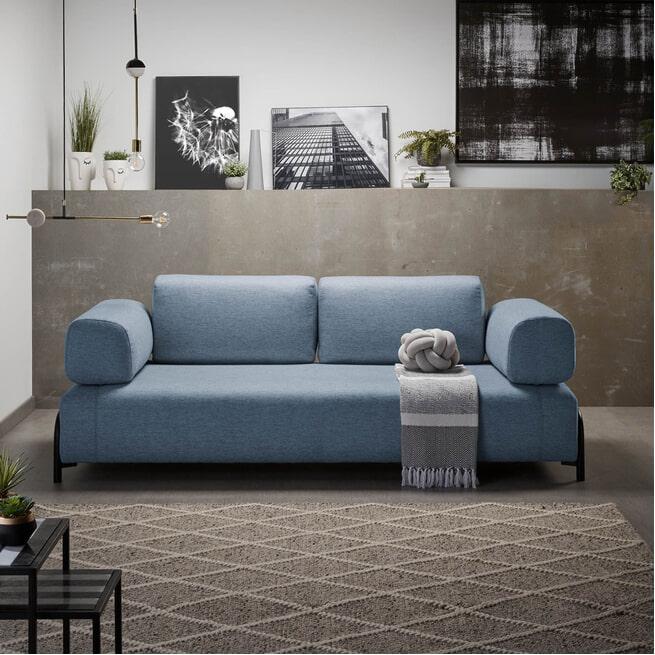 Kave Home 3-zits Bank 'Compo', kleur Blauw