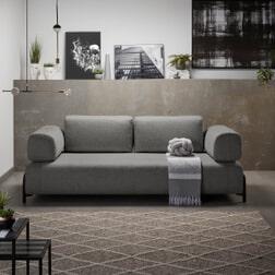 Kave Home 3-zits Bank 'Compo', kleur Donkergrijs
