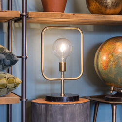 Dutchbone Tafellamp 'Cubo' 51cm
