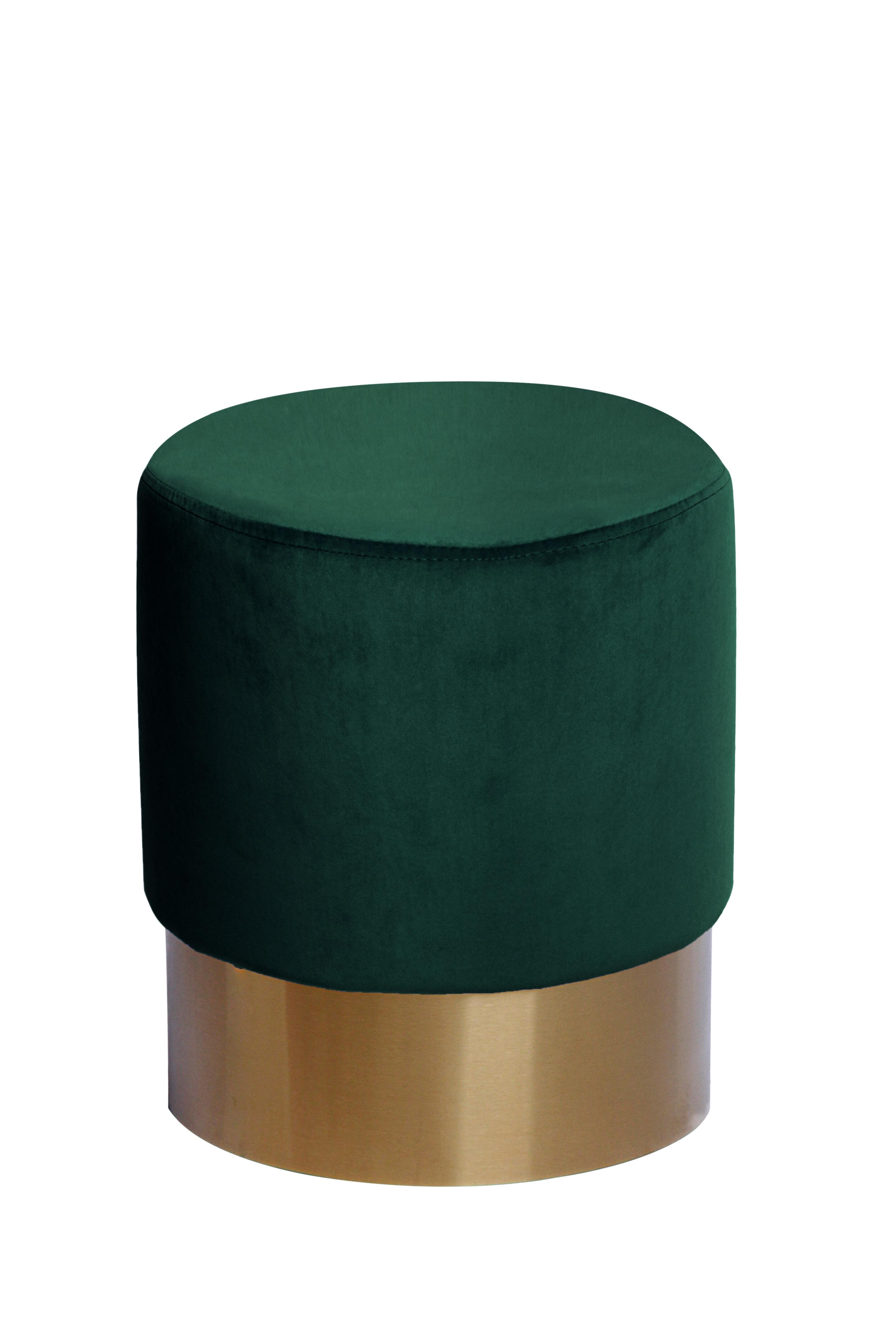 Kayoom Poef 'Nano' 35cm, kleur donkergroen