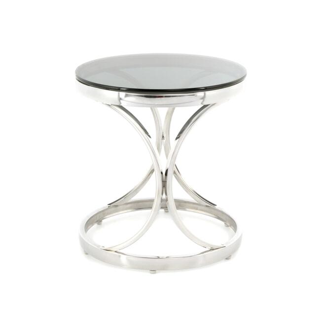 Kayoom Bijzettafel 'Weyda' 40cm, kleur zilver