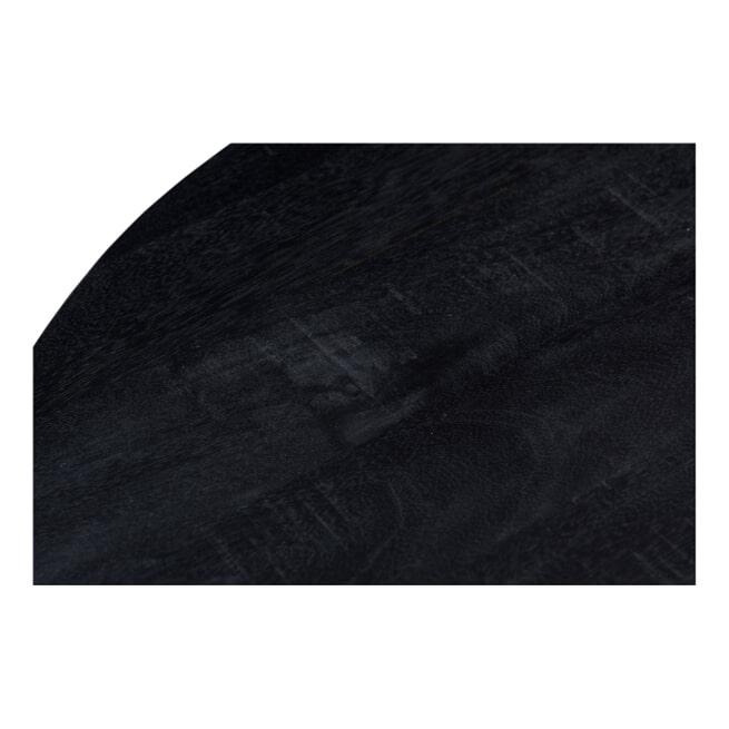 LivingFurn Ronde Eettafel 'Kala' Mangohout en staal, 120cm