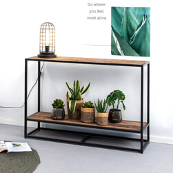Sohome Sidetable 'Georgia' Riverwood en staal, 120cm