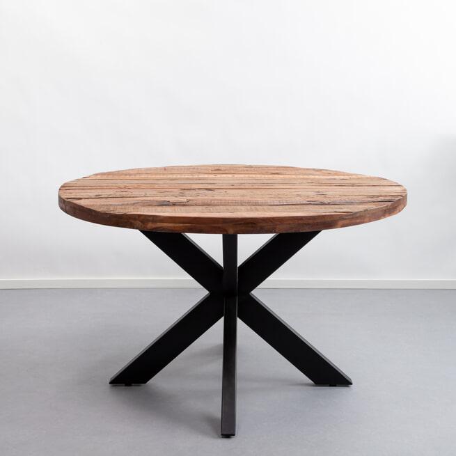 Sohome Ronde Eettafel 'Georgia' Driftwood en staal