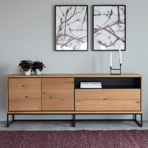 Interstil Dressoir 'Dalarna' Eiken 198cm