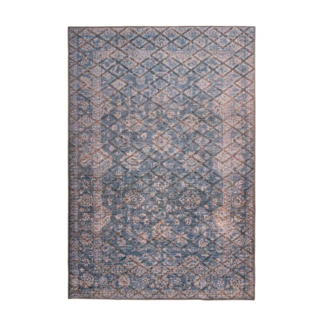 Kayoom Vloerkleed 'Antique 225' kleur Blauw / Goud