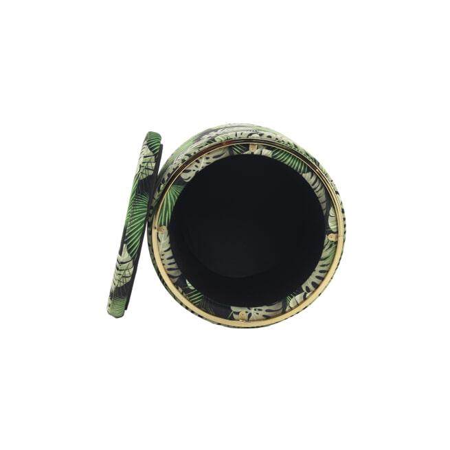 Kayoom Poef 'Leaf' 53cm, met deksel