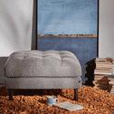 Kave Home Poef 'Debra', kleur Donkergrijs