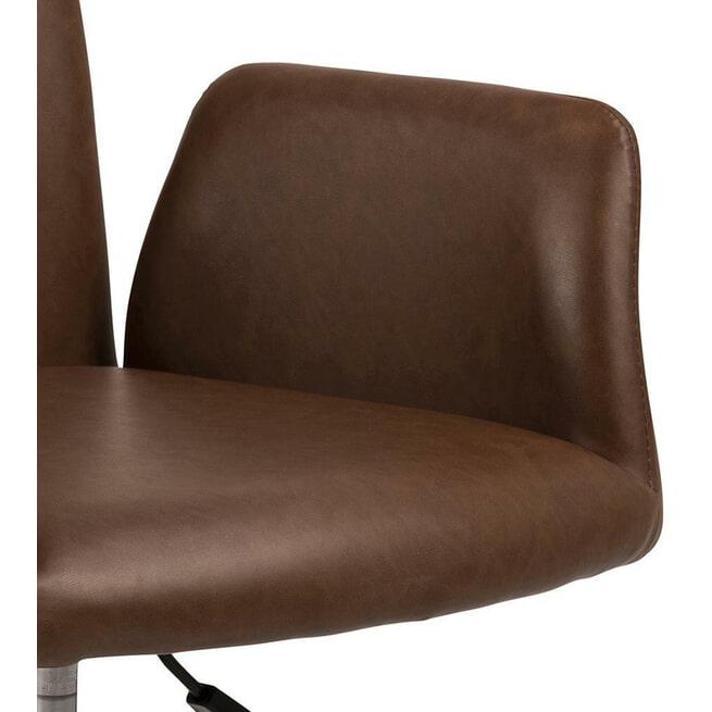 Bendt Bureaustoel 'Neya' PU, kleur Bruin