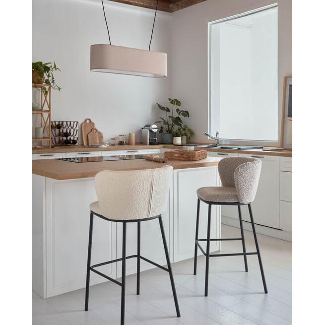 Kave Home Barkruk 'Ciselia' (zithoogte 75cm)