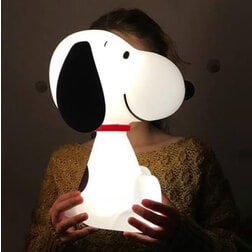 Snoopy bed / nachtlamp LED, 30cm hoog