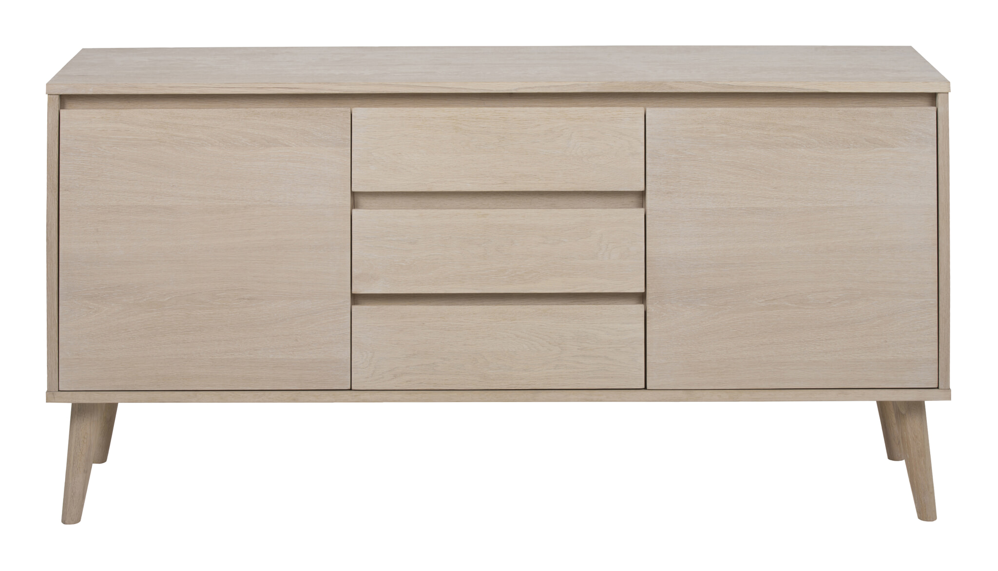 Sidetable Eiken White Wash.Bendt Dressoir Ebbe 150cm Kleur Eiken Whitewash