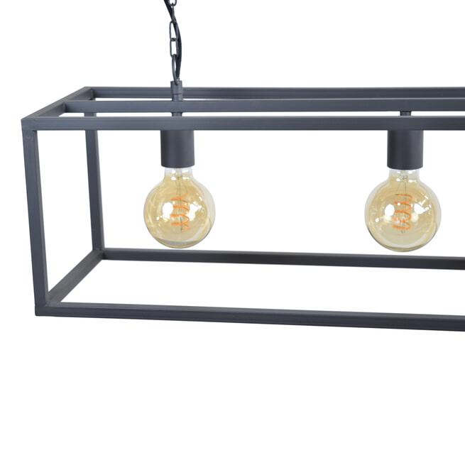 Urban Interiors hanglamp 'Frame' 4-lamps 120cm, kleur Zwart