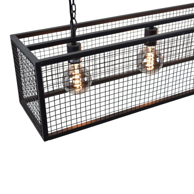 Urban Interiors hanglamp 'Frame Gaas 120cm' 4-lichts