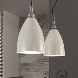 Dubbele Hanglamp 'Lulu', kleur Wit