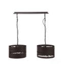 Dubbele Hanglamp 'Welkom 2-lamps'