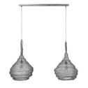 Dubbele Hanglamp 'Zachary' gaas, 2 x Ø45 cm