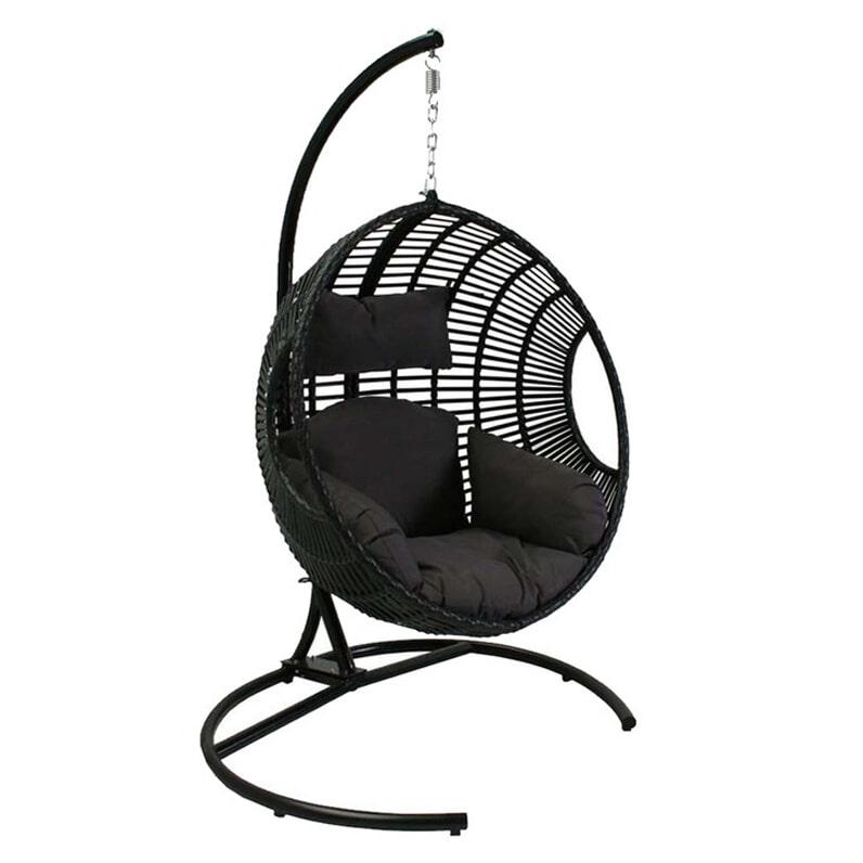 Hangstoel Zonder Frame.Sens Line Hangstoel Dusty Kleur Zwart Ss 15003 B Meubelpartner