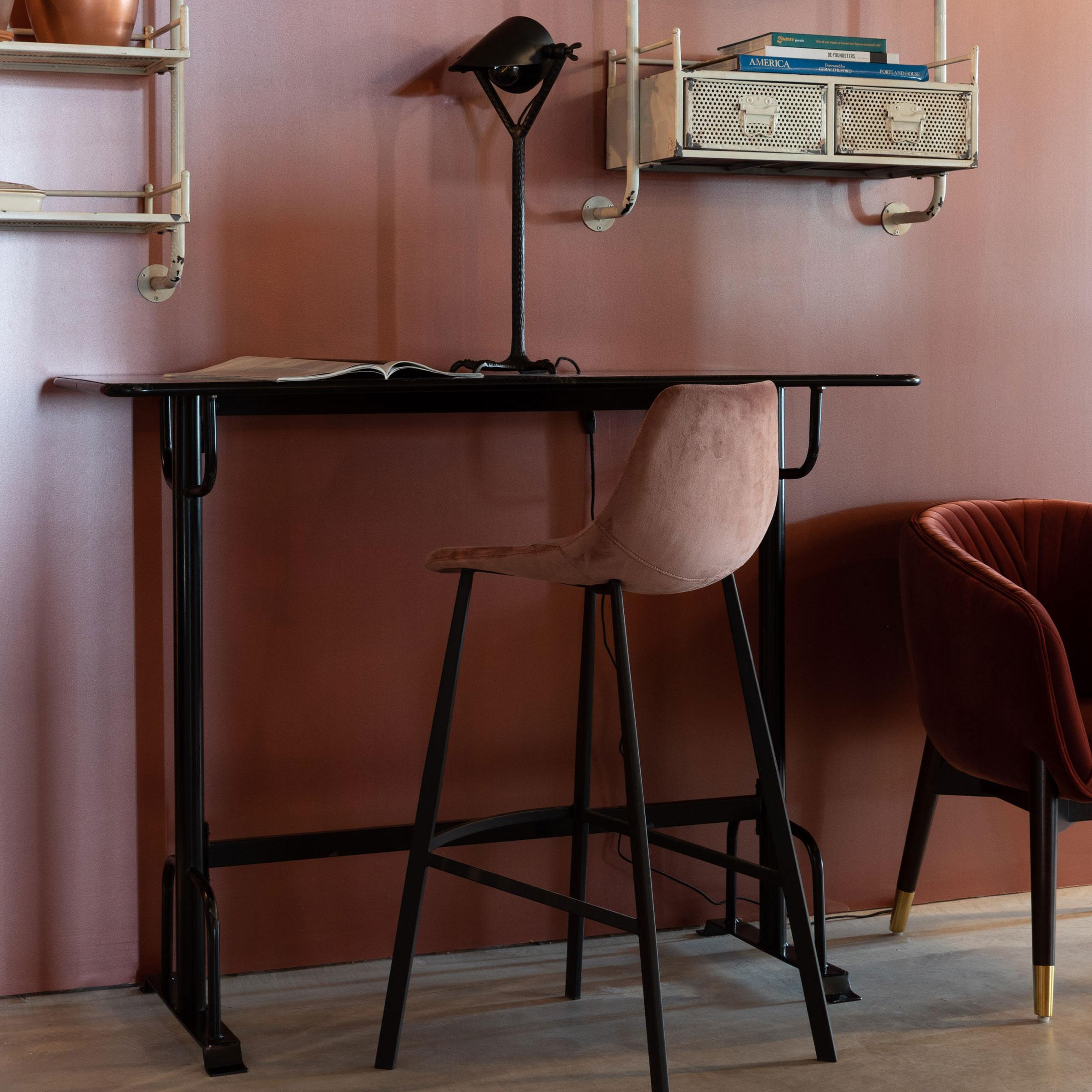 Dutchbone Bartafel 'Declan' 140 x 50cm, kleur Zwart