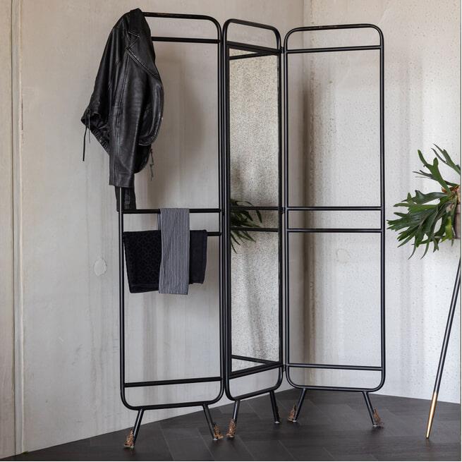 Dutchbone Roomdivider 'Lion' met spiegel