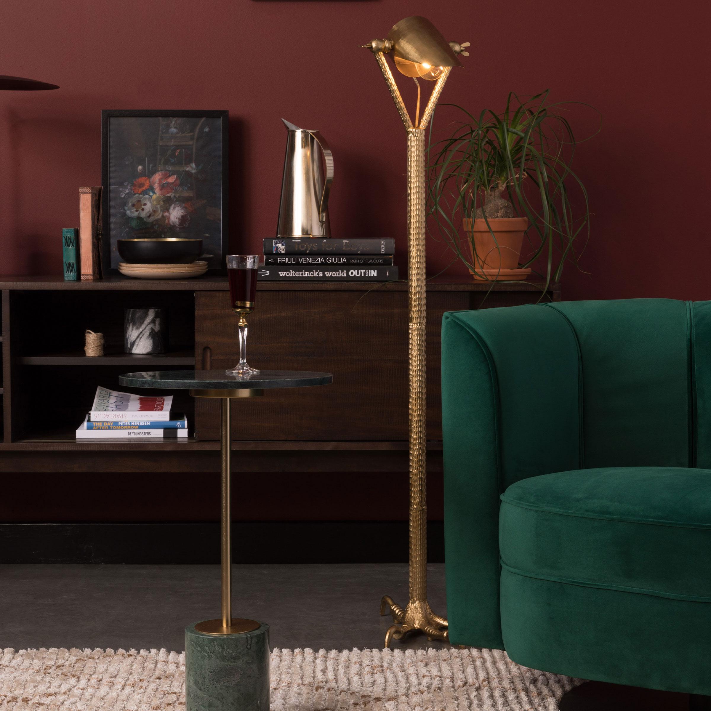 Dutchbone Vloerlamp 'Falcon' 137cm, kleur Brass
