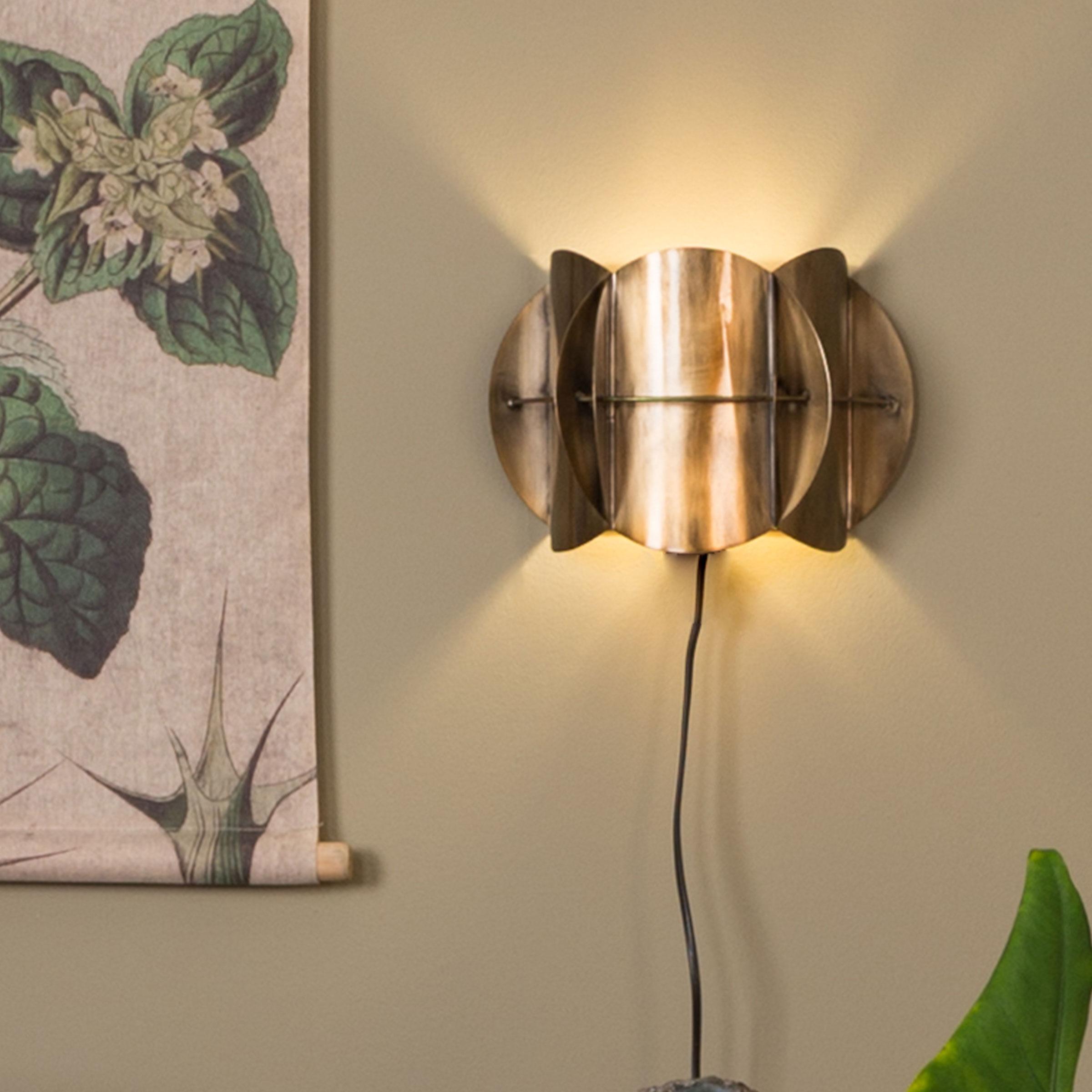 Dutchbone Wandlamp 'Corridor' 19cm, kleur Brass