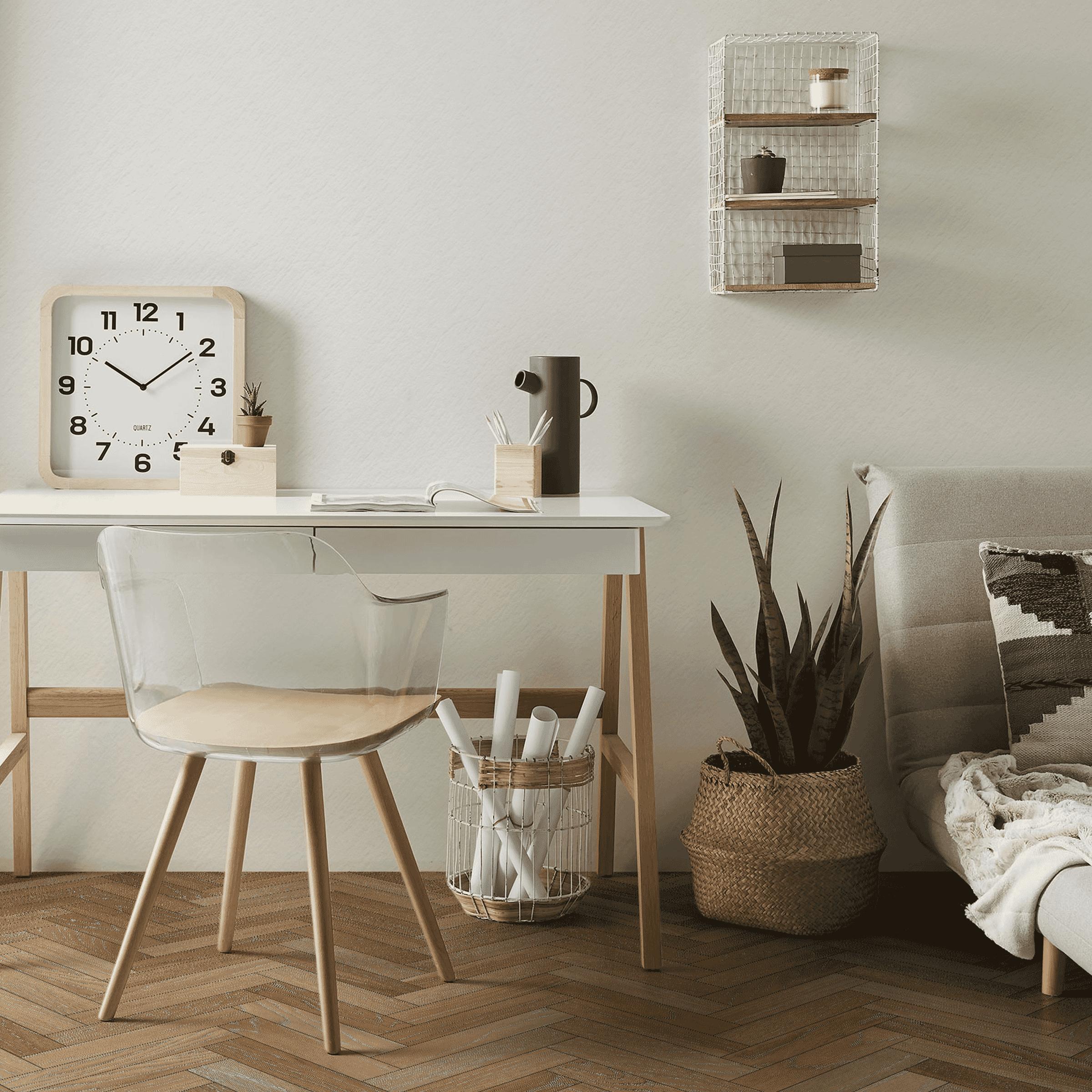 Kave Home Bureau 'Dyana' kleur Naturel / Wit