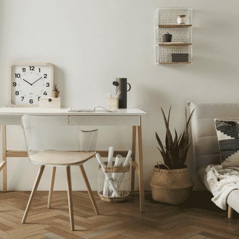 Kave Home Bureau 'Dyana', kleur Naturel / Wit