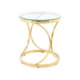 Kayoom Bijzettafel 'Weyda' 50cm, kleur goud