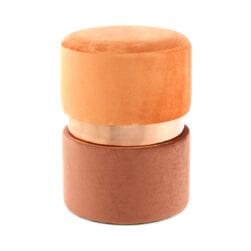 Kayoom Poef 'Zara' 35cm, kleur terra
