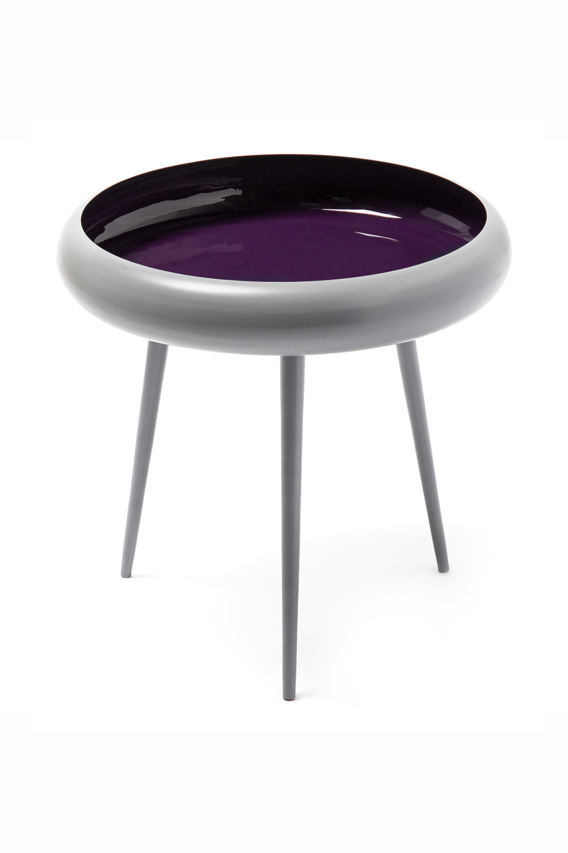 Kayoom Bijzettafel 'Kust' kleur Grijs / Pruim, 39cm