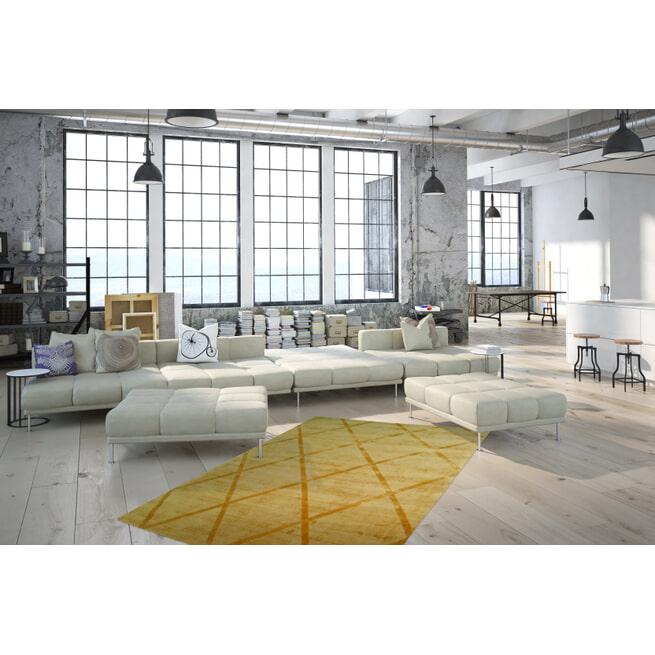 Kayoom Vloerkleed 'Luxury 210' kleur Oker / Geel