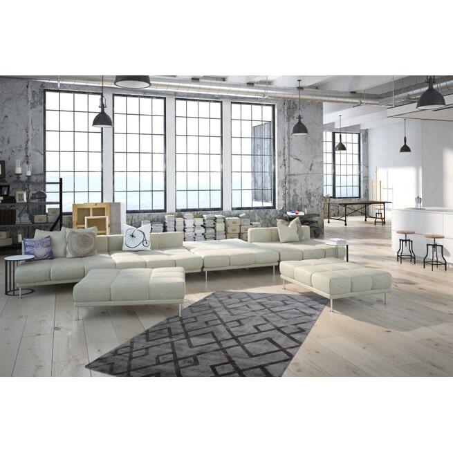Kayoom Vloerkleed 'Luxury 310' kleur Grijs / Antraciet