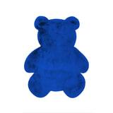 Kayoom Vloerkleed 'Beer' kleur Blauw, 73 x 90cm