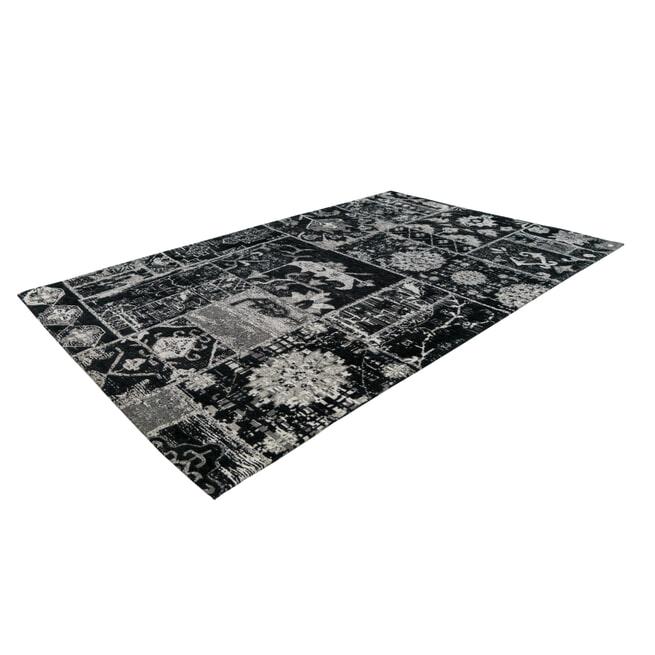 Kayoom Vloerkleed 'River 150' kleur Grijs / Zwart