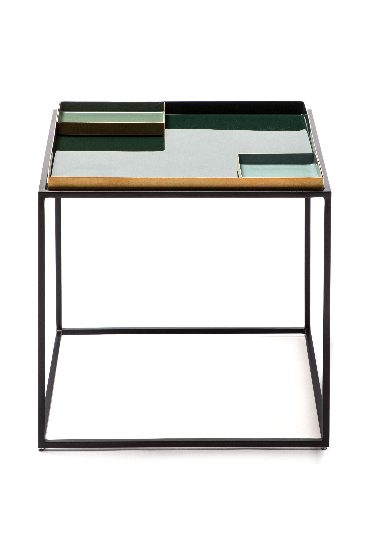 Kayoom Bijzettafel 'Famosa' kleur groen, 40 x 40cm