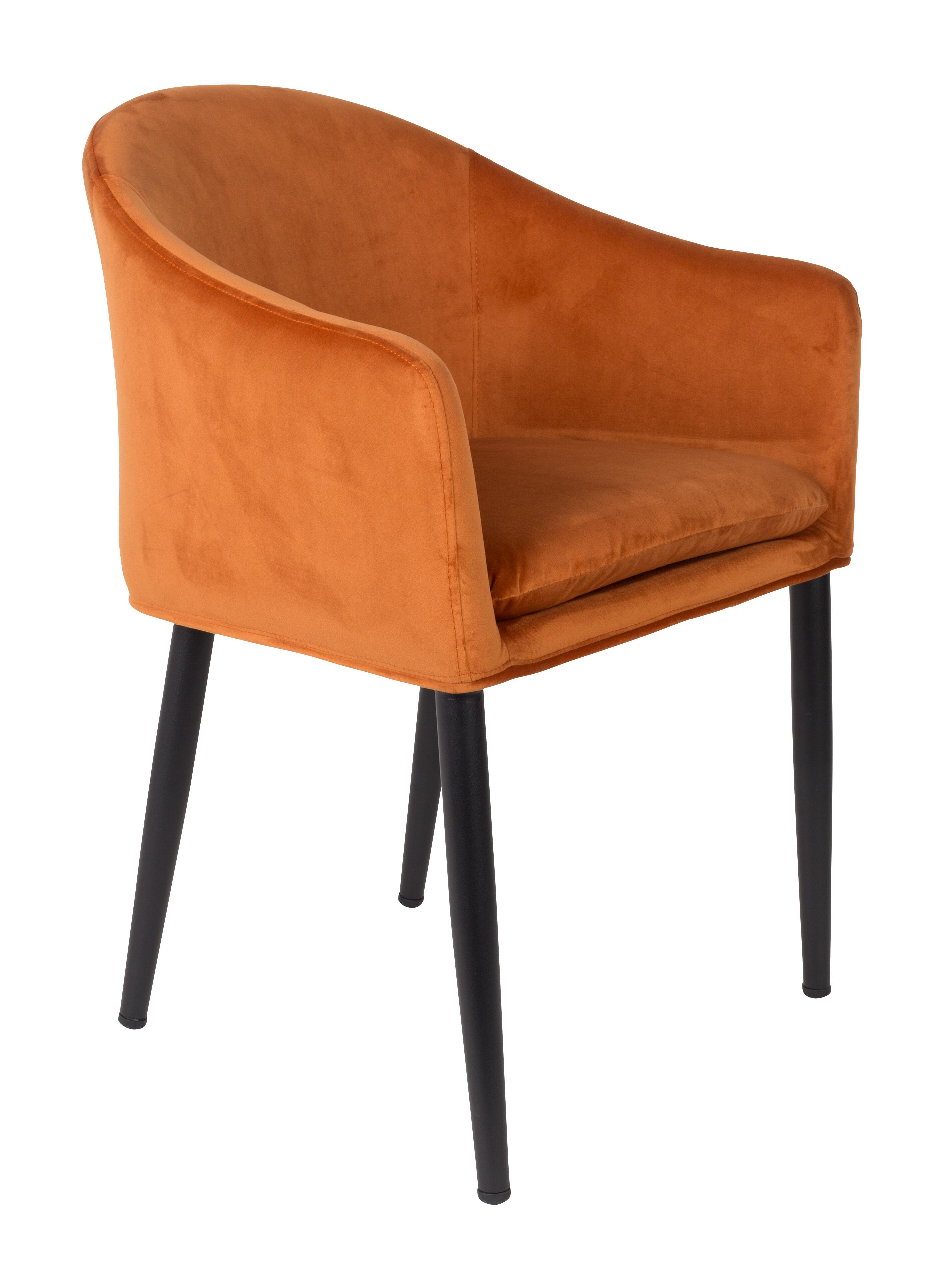 Eetkamerstoel 'Yuniesky', kleur Oranje
