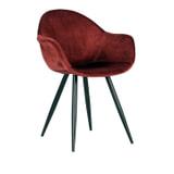 LABEL51 Eetkamerstoel 'Forli', Velvet, kleur Rood